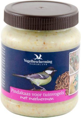 Afbeelding van Vogelbescherming Nederland Vogelbescherming Vogelpindakaas - Meelwormen - 300 gr