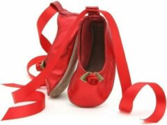 Rode Starchild Babyslofjes ballerina red metallic Maat: L (142 cm)