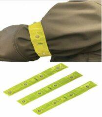 Gele Le Civa 3-Pack Reflecterende Hardloop Verlichting - Hardloop / Fiets Sport Armband Met LED Verlichting