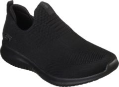 Zwarte Skechers Ultra Flex First Take Dames Instappers - Black - Maat 37