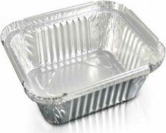 Zilveren Royal ware by Farla Aluminium rechthoekige voedsel containers, 250 ml - verpakking van 10 containers