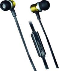 Gouden Grundig Metal pro stereo oortelefoon met microfoon
