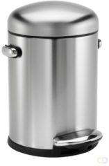 Roestvrijstalen Simplehuman Simple Human Afvalemmer Retro 4.5 liter 22.5x25x31.1cm RVS Hoogglans SH 013633