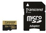 Transcend Speicherkarte microSDHC 32GB Karte Transcend bunt/multi