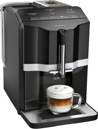 Afbeelding van Siemens EQ300 TI351209RW - Espressomachine - Zwart/Zilver