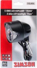 Zwarte Simson E-bike Voorvork koplamp 'Truss' 6-60V, 30 Lux
