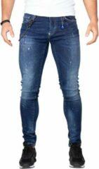 Jeans heren- Leyon denim - Yellow -Spotted- Blauw 1674 W36 X L33