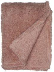 Unique Living Teddy fleece plaid - 100% polyester, Fleece polyester - 150x200 cm - Roze