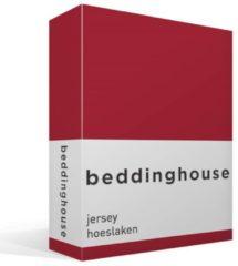 Beddinghouse jersey hoeslaken - 100% gebreide katoen - 2-persoons (140x200/220 cm), 2-persoons (140x200/210 cm) - Rood