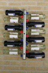 Roestvrijstalen United Entertainment - RVS Flessenhouder voor aan de muur – 12 Flessen