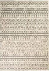 VidaXL Vloerkleed modern traditioneel ontwerp 120x70 cm beige/grijs