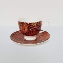 Rode Alperstein Designs Design kop en schotel - Teddy Jakamarra Gibson - Aboriginal collectie