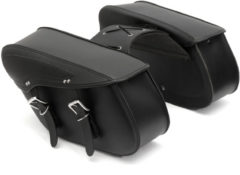 Pair PU Motorcycle Harley Universal Saddle Bags Cross Rider Panniers Tool Luggage