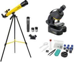 Zwarte National Geographic Telescoop- en Microscoopset voor Kinderen incl. Accessoires