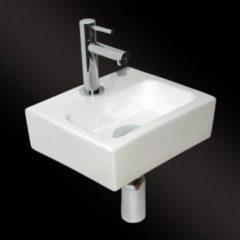 Witte Best Design Class Fonteinset inclusief sifon kraan en afvoerplug 3853050