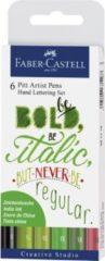 Faber-Castell Pitt Artist Pen - Handlettering etui - Bold Italic - 6-delig