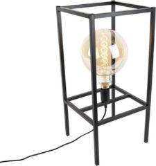 QAZQA - Tafellamp - 1 lichts - H 625 mm - Zwart
