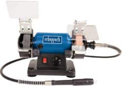 Scheppach HG34 Slijp- en schuurmachine 3-in-1 - Slijpen, schuren en polijsten - Incl. 100-delige toolkit