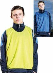 Precision Trainingshesje Dubbelzijdig Polyester Blauw/geel Mt S