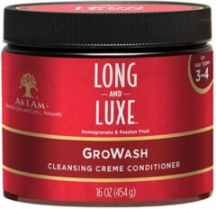 As I am - Long&Luxe Growash Creme Conditioner - 454 gr