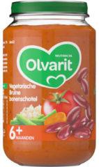 Olvarit Vegetarische Bruine bonenschotel 6+ Maanden (1 Potje van 200g)