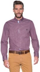 Bordeauxrode Campbell Casual shirt met lange mouwen bordeaux