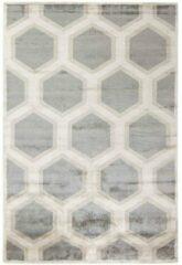 MOMO Rugs - Cosmou Decor Vloerkleed - 170x240 cm - Rechthoekig - Laagpolig Tapijt - Retro, Scandinavisch - Beige, Grijs