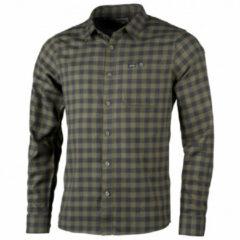 Lundhags - Ekren L/S Shirt - Overhemd maat 3XL, zwart/olijfgroen/grijs
