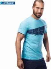 Merkloos / Sans marque Embrator T-shirt met grafische print turquoise maat XXL