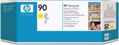 Gele HP 90 - Inktcartridge / Geel + Cleaner