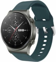 IMoshion Siliconen Smartwatch Bandje voor de Huawei Watch GT 2,Huawei Watch GT 2 Pro,Huawei Watch GT 2e Sport 46 mm - Donkergroen