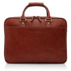 Zwarte Castelijn & Beerens Verona businesstas van leer met 15,6 inch laptopvak