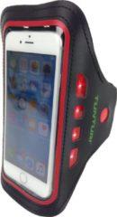 Tunturi Sport Telefoonarmband - Sportarmband - Hardloop armband - Smartphone armband - met Led hardloopverlichting Rood