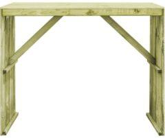 Bruine VidaXL Bartafel 130x60x110 cm geïmpregneerd grenenhout VDXL 44900