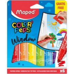 Maped Office Maped Color'Peps Raamstiften met Doekje 6 Kleuren