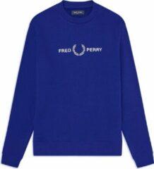 Blauwe Fred Perry Graphic Sweatshirt Graphic Sweatshirt Heren Trui Maat L