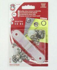 Roland baby Babydrukkers brons. Open ronde drukknopen. 9.7/10mm doorsnee.