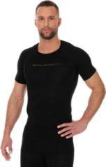 Brubeck Fietskleding Fietsshirt Heren- 3D Pro Naadloos Wielren - Mountainbike - Fiets - Trainingsshirt - Korte Mouw - Zwart - XL