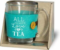 Miko Tijd voor thee - Theeglas - Love - Tea