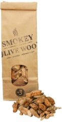 Bruine Smokey Olive Wood- Houtsnippers - Olijfhout - 500ml - Chips grote maat ø 2cm-3cm