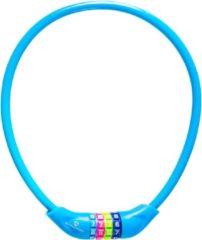 Lichtblauwe #DoYourFitness #DoYourOutdoor - Fietsslot - »Protector« - Kettingslot - L 70 cm, Ø 25 cm, dikte ca. 3/4 mm - hemelsblauw