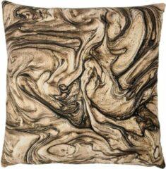 Swan Spring | Gold Brown Marmer | Kussen | Bruin | Wit | Zwart | Goudgeel | 45 x 45cm