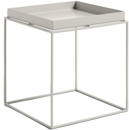 Afbeelding van Licht-grijze Hay Tray Table salontafel warmgrijs medium 40x40