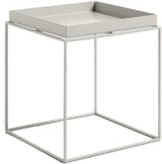 Licht-grijze Hay Tray Table salontafel warmgrijs medium 40x40