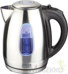 Roestvrijstalen Adler AD 1223 - Waterkoker - led - RVS - 2200 watt - 1.7 L
