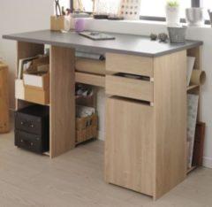 Schreibtisch Brooklyn Eiche/ grau Parisot Crea