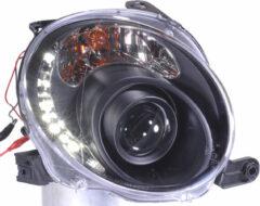 Universeel Set Koplampen DRL-Look Fiat 500 2007- - Zwart