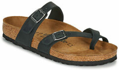 Birkenstock Mayari Slippers Zwart Leer Regular-fit