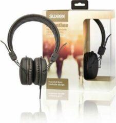 Sweex SWHP100B Hoofdtelefoon On-ear 1.20 M Zwart
