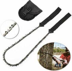 Zwarte Selected by BÖR Handkettingzaag, staal, voor outdoor/camping/tuin 33 tanden - bekijk de video!!